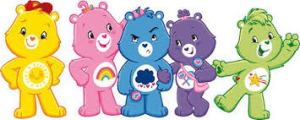 The Care Bears! (That would be me in the middle.)