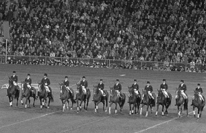 "Back in the day when Dressage horses were well rounded and calm.  See the bottom of this post for the ""who's who"" in this photo."
